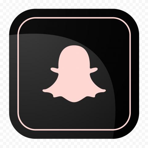 HD Snapchat Black & Pink Square App Logo Icon PNG Image