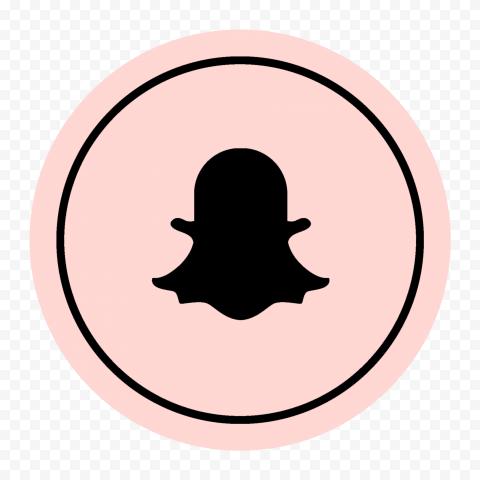 HD Snapchat Black & Pink Round Logo Icon PNG Image