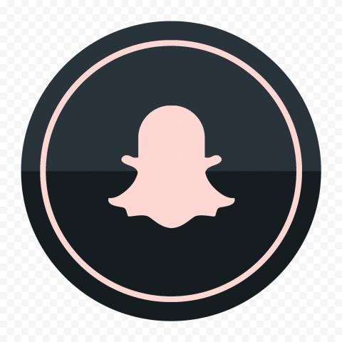 HD Snapchat Black & Pink Circle Round Logo Icon PNG Image