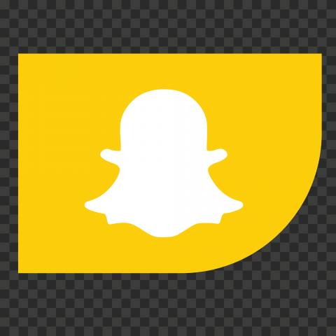 HD Snapchat Corner Ribbon Icon PNG Image