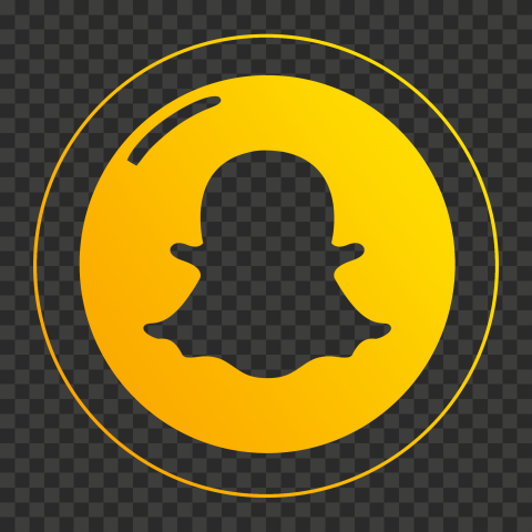 HD Round Circle Snapchat Outline Icon PNG Image