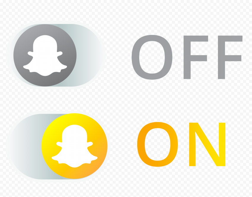 HD Two Snapchat Web Buttons On Off Icons PNG Image