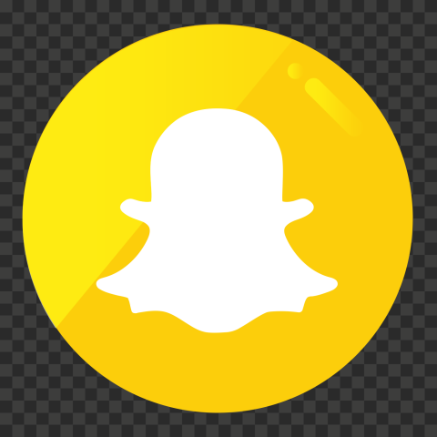 HD Round Snapchat Button Icon Gradient Yellow Color PNG Image