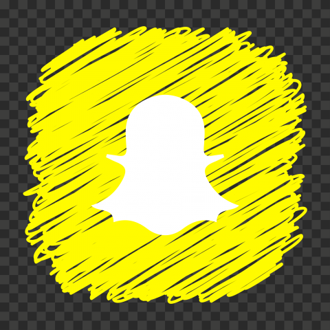 HD Snapchat Yellow Icon Scribble Art Style PNG Image