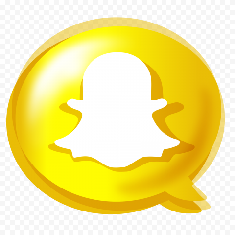 HD Creative Snapchat Bubble Style Illustration Icon PNG Image