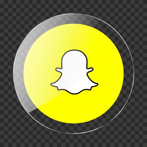HD Snapchat Glossy Round Circle Icon PNG Image