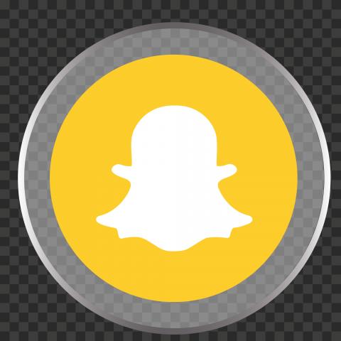 HD Snapchat Glossy Round Circular Circle Icon PNG Image