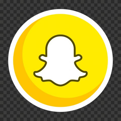 HD Round Circle Vector Snapchat Icon PNG Image