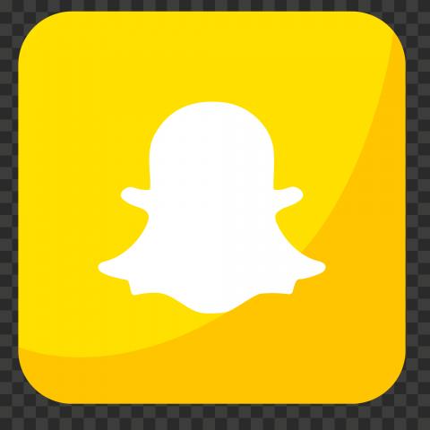 HD Snapchat Yellow Square Illustration App Icon PNG Image