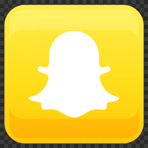 HD Snapchat Yellow Square Shape Illustration App Icon PNG Image