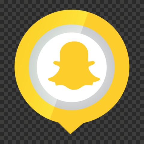 HD Pin Location Snapchat Logo Icon PNG Image