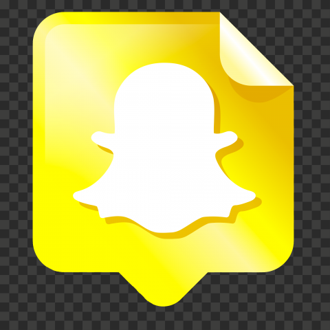 HD Snapchat Pin Note Style Creative Icon Design PNG Image