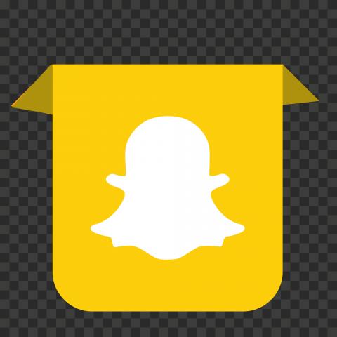 HD Snapchat Social Media Ribbon Icon PNG Image