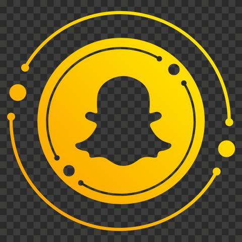 HD Creative Outline Circles Circular Snapchat Social Media Icon PNG Image