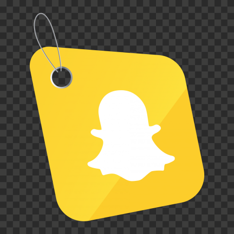 HD Snapchat Social Media Label Icon PNG Image