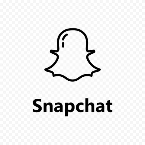 Snapchat Black Logo Icon UI SVG PNG Image
