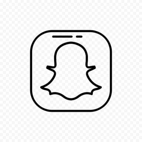 Snapchat Flat Black Logo Icon UI SVG PNG Image