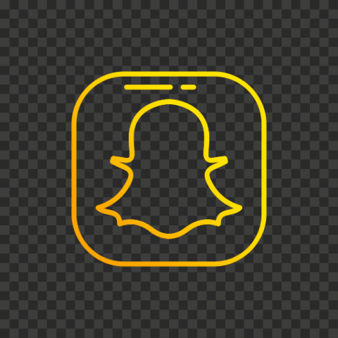 Snapchat Flat Yellow Gradient Logo Icon UI SVG PNG Image