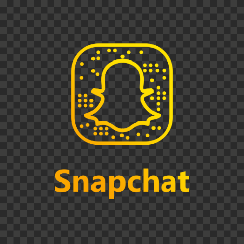 Snapchat Yellow Gradient Logo Code Icon UI SVG PNG Image