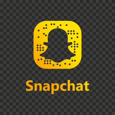 Snapchat Yellow Gradient Outline Logo Code Icon UI SVG PNG Image
