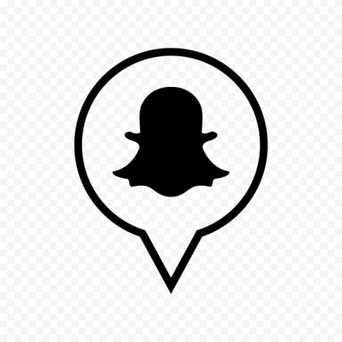 Black Snapchat Pin Icon PNG Image