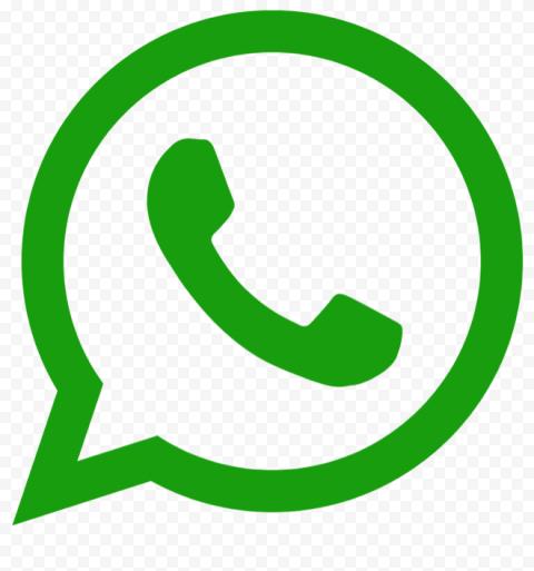Outline Whatsapp Wa Watsup Green Logo Icon Symbol Sign PNG