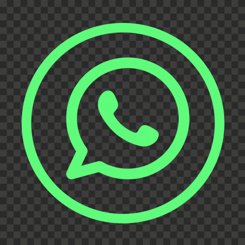 HD Outline Whatsapp Wa Watsup Round Circle Logo Icon PNG