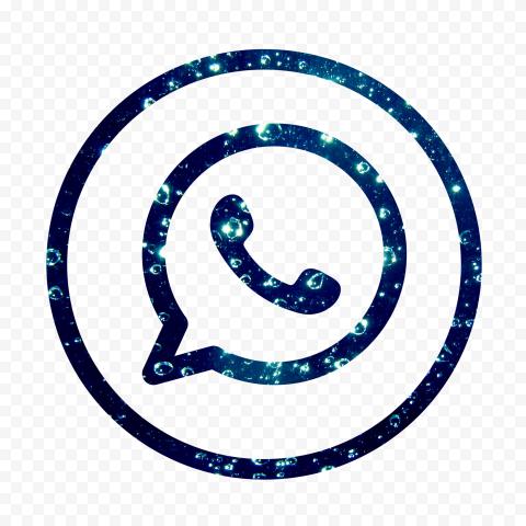 HD Beautiful Blue Outline Whatsapp Wa Circle Logo Icon PNG