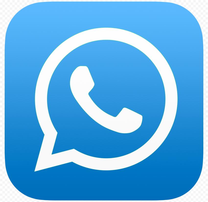 HD Blue Whatsapp Wa Whats App Official Logo Icon PNG