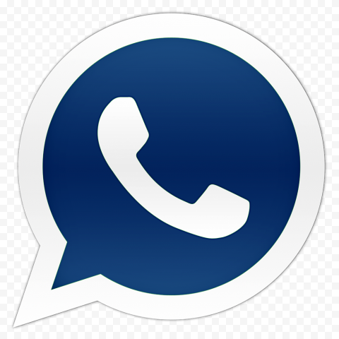 HD Dark Blue Official Whatsapp Wa Watsup Logo Icon PNG