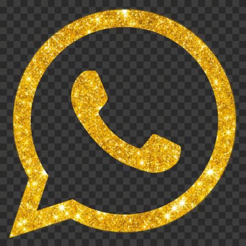 HD Gold Glitter Official Whatsapp Wa Watsup Logo Icon PNG