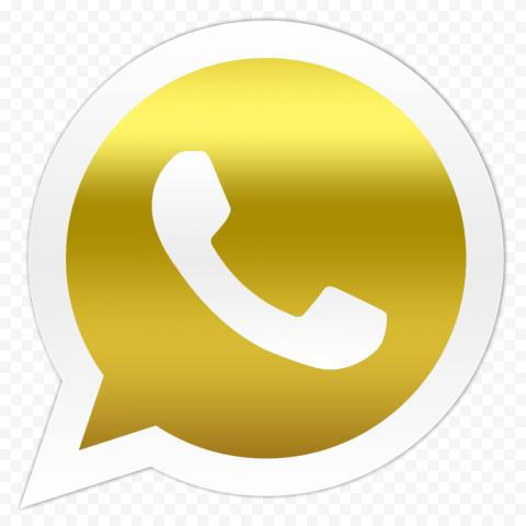 HD Golden Gold Official Whatsapp Wa Watsup Logo Icon PNG