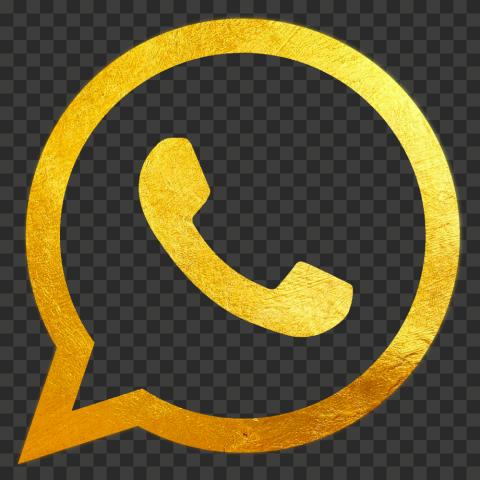 HD Gold Official Whatsapp Wa Watsup Logo Icon PNG
