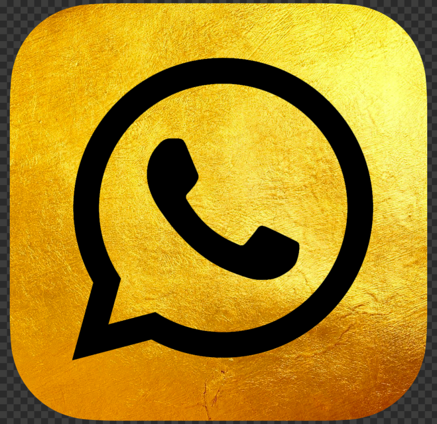 HD Luxury Gold & Black Whatsapp Wa Official Logo Icon PNG