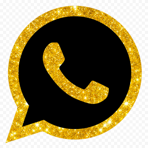 HD Gold & Black Luxury Whatsapp Wa Watsup Logo Icon PNG