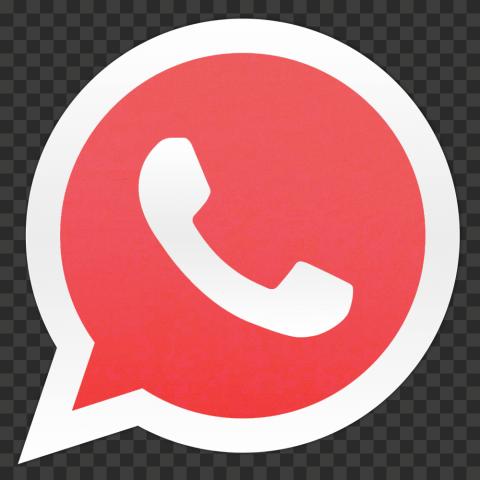 HD Flat Red Wa Whatsapp Logo Icon PNG