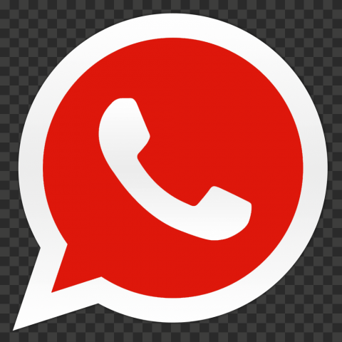 HD Dark Red Wa Whatsapp Logo Icon PNG