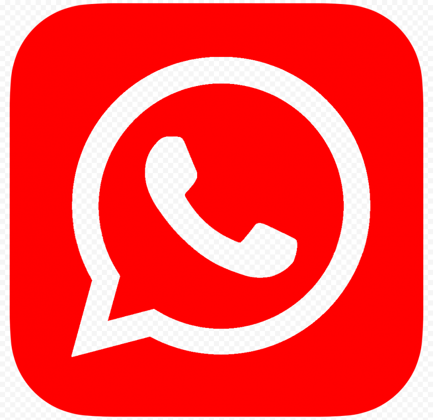 HD Outline Red Whatsapp Wa Whats App Official Logo Icon PNG