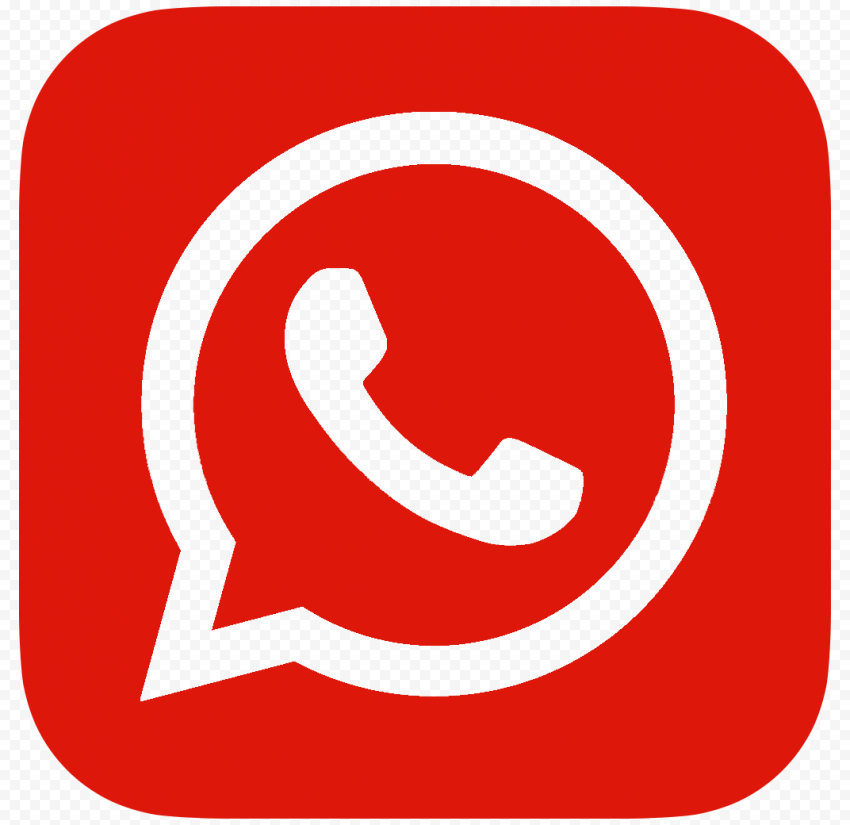 HD Outline Dark Red Whatsapp Wa Whats App Logo Icon PNG