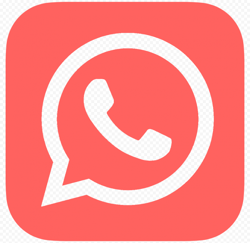 HD Outline Flat Red Whatsapp Wa Whats App Logo Icon PNG