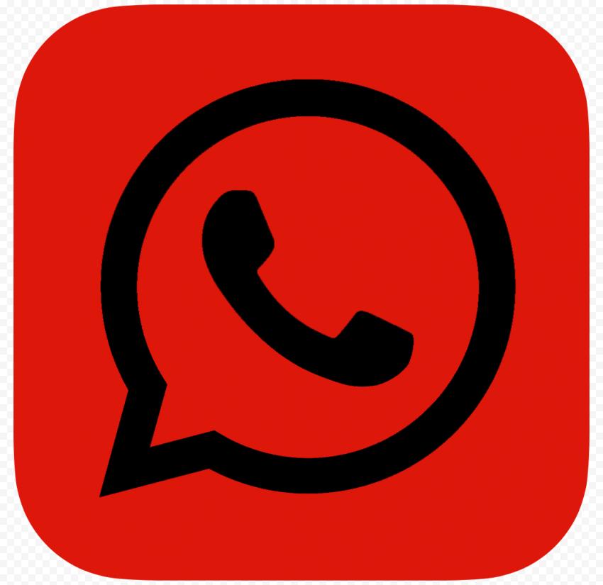 HD Dark Red & Black Whatsapp Wa Whats App Logo Icon PNG