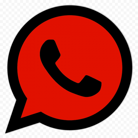 HD Red & Black Wa Whatsapp Logo Icon PNG