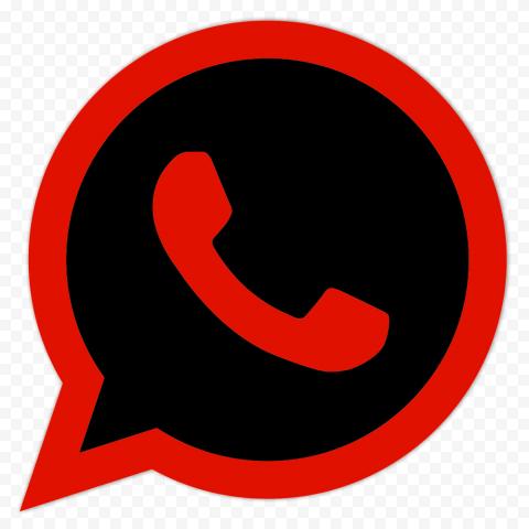 HD Black & Red Wa Whatsapp Logo Icon PNG