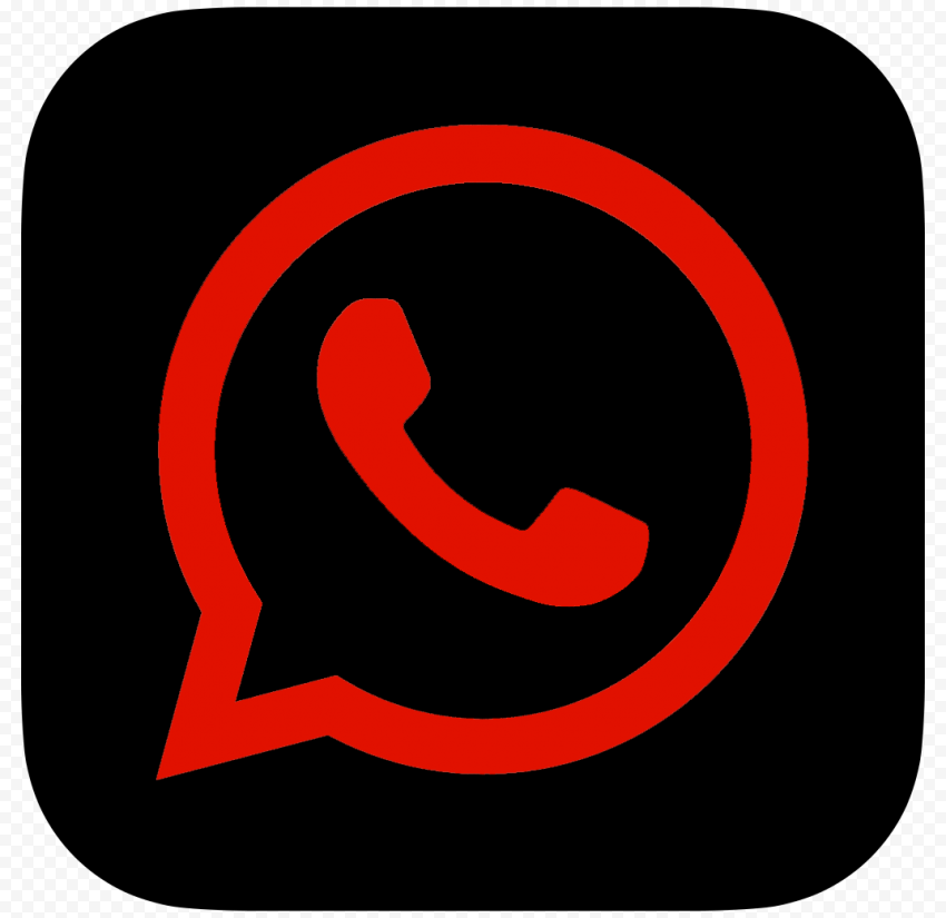 HD Dark Red & Black Whatsapp Wa Square Logo Icon PNG