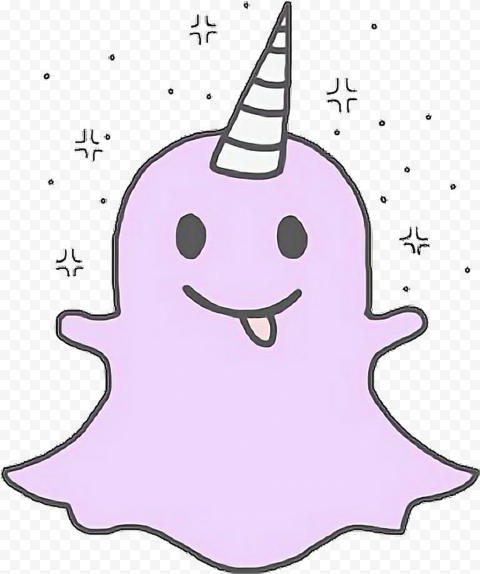 HD Snapchat Kawaii Cute Purple Ghost Icon PNG