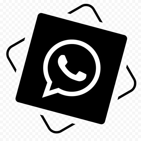 HD Black And White WhatsApp Wa Whats App Icon PNG