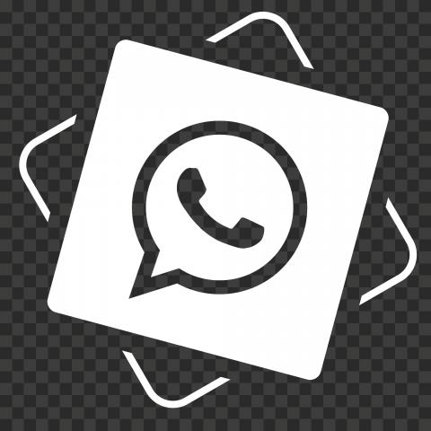 HD White Creative WhatsApp Wa Whats App Icon PNG