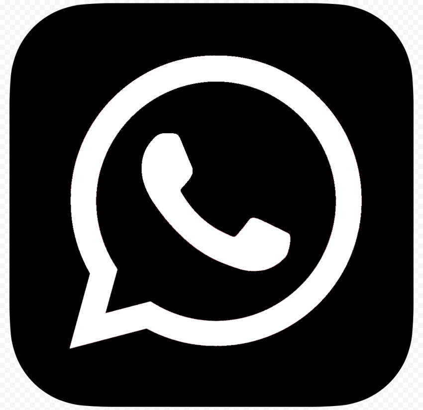 HD Black And White WhatsApp Whats App Square Logo Icon PNG