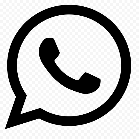 HD Black Outline WhatsApp Wa Whats App Logo Icon PNG