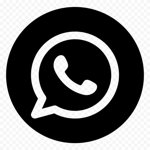 HD Round Black Outline WhatsApp Wa Whats App Logo Icon PNG